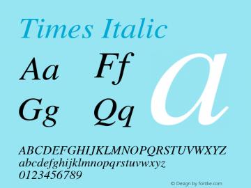 Times Italic 图片样张