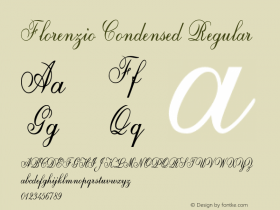 Florenzio-CondensedRegular Version 1.000图片样张
