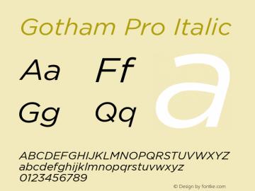 GothamPro-Italic Version 1.100; Cyrillic Support图片样张