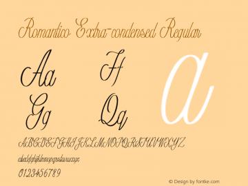 Romantico-ExtracondensedRegular Version 1.000图片样张