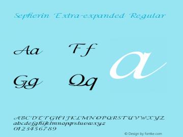 Sepherin-ExtraexpandedRegular Version 1.000图片样张