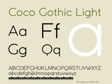Coco Gothic Light Version 2.001图片样张