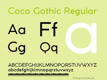 Coco Gothic Version 3.001图片样张