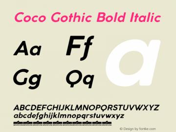 Coco Gothic Bold Italic Version 3.001图片样张