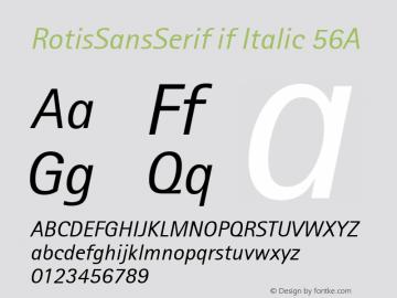 Rotis Sans Serif Italic 56A 1.0 Tue Jun 30 14:06:46 1998图片样张