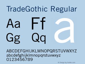 Trade Gothic Version 2.0; 2001图片样张