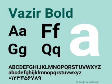 Vazir Bold Version 10.0.0-alpha图片样张