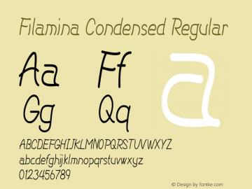 Filamina-CondensedRegular Version 1.000图片样张