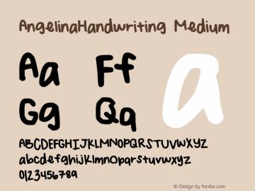 AngelinaHandwriting Version 001.000图片样张