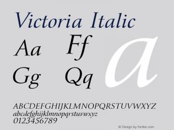 Victoria Font,Victoria-Italic Font,Victoria Italic Font|Victoria