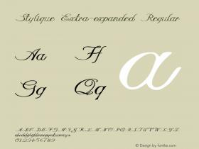 Stylique-ExtraexpandedRegular Version 1.000图片样张