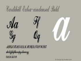 Cardihill-ExtracondensedBold Version 1.000图片样张