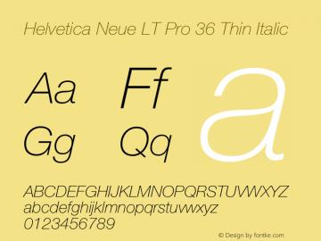 HelveticaNeueLTPro-ThIt Version 1.000;PS 001.000;hotconv 1.0.38图片样张