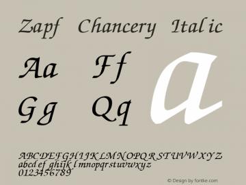 Zapf Chancery Italic:001.007 001.007图片样张