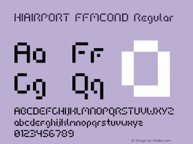HIAIRPORT FFMCOND Macromedia Fontographer 4.1.5 06.07.2000图片样张