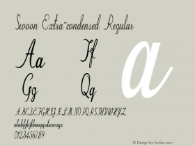 Swoon-ExtracondensedRegular Version 1.000图片样张