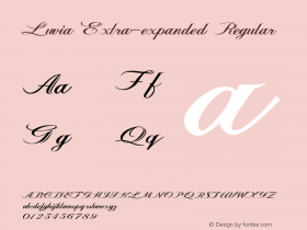 Luvia-ExtraexpandedRegular Version 1.000图片样张