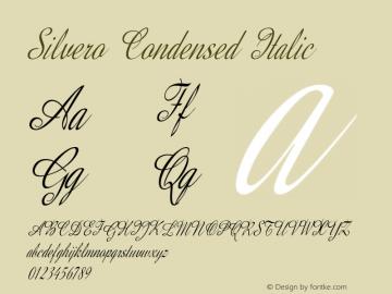 Silvero-CondensedItalic Version 1.000图片样张