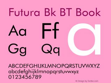Futura Bk BT Font,Futura Book BT Font,FuturaBT-Book Font