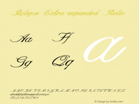 Stylique-ExtraexpandedItalic Version 1.000图片样张