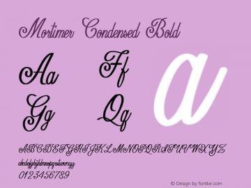 Mortimer-CondensedBold Version 1.000图片样张