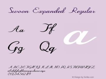 Swoon-ExpandedRegular Version 1.000图片样张