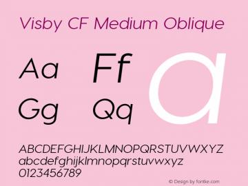 Visby CF Medium Italic Version 2.03300图片样张