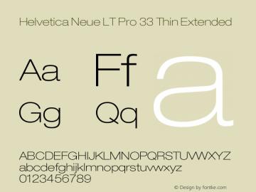 HelveticaNeueLTPro-ThEx Version 1.000;PS 001.000;Core 1.0.38图片样张