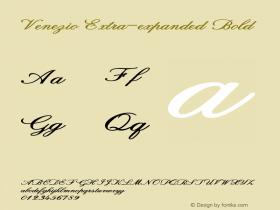 Venezio-ExtraexpandedBold Version 1.000图片样张