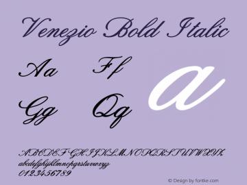 Venezio-BoldItalic Version 1.000图片样张