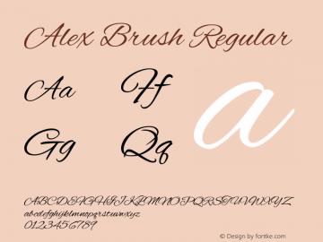 Alex Brush Version 1.003图片样张