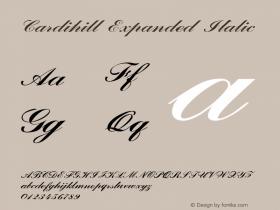 Cardihill-ExpandedItalic Version 1.000图片样张