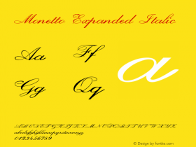 Monetto-ExpandedItalic Version 1.000图片样张