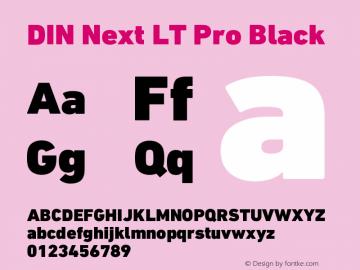 DINNextLTPro-Black Version 1.200;PS 001.002;hotconv 1.0.38图片样张