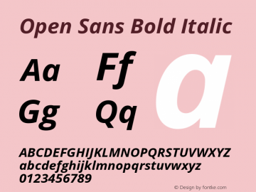 Open Sans Bold Italic Version 1.10图片样张