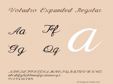 Voladro-ExpandedRegular Version 1.000图片样张