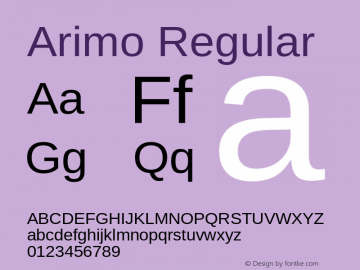Arimo Version 1.20图片样张