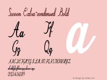 Swoon-ExtracondensedBold Version 1.000图片样张