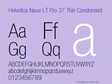 HelveticaNeueLTPro-ThCn Version 1.500;PS 001.005;hotconv 1.0.38图片样张