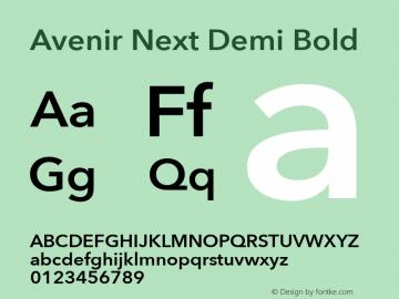 Avenir Next Demi Bold 8.0d5e5图片样张