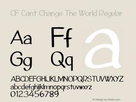 CF Cant Change The World Regular Version 1.00 2013图片样张