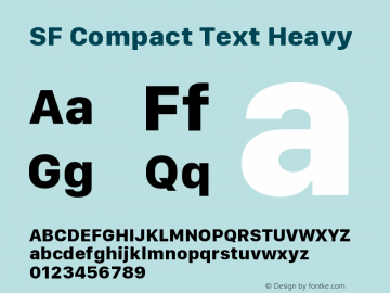 SF Compact Text Heavy Version 1.00 April 2, 2017, initial release图片样张