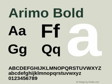 Arimo Bold Version 1.23图片样张