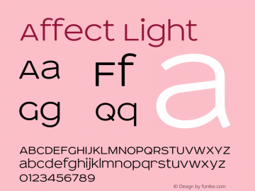 Affect-Light Version 2.000 2011 initial release图片样张