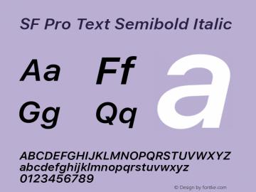SF Pro Text Semibold Italic Version 01.0d1e2图片样张