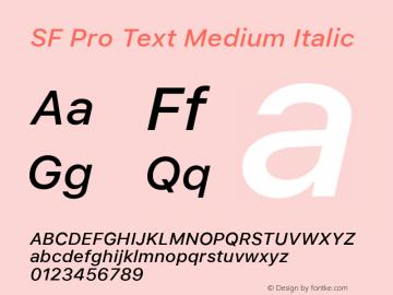 SF Pro Text Medium Italic Version 01.0d1e2图片样张
