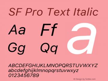 SF Pro Text Italic Version 01.0d1e2图片样张