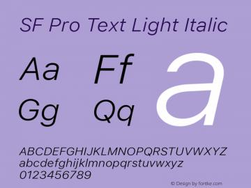 SF Pro Text Light Italic Version 01.0d1e2图片样张