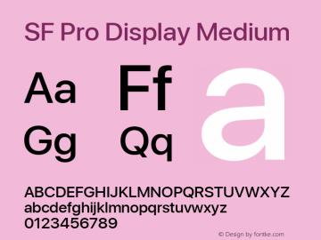 SF Pro Display Medium Version 01.0d1e2图片样张