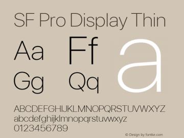 SF Pro Display Thin Version 01.0d1e2图片样张